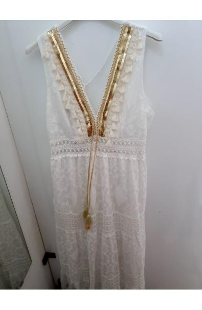 Čipkované trendy dlhé šaty