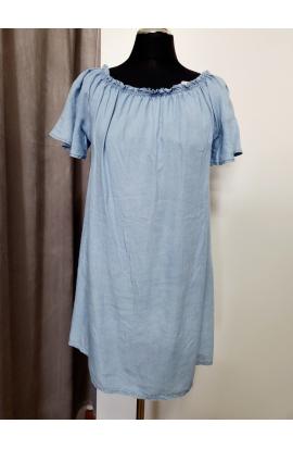 Modré riflové šaty