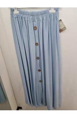 Riflová dlhá sukňa
