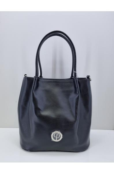 Čierna kabelka do ruky Prestige