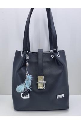 Čierne kabelka na plece Chiara
