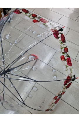 Dáždnik priesvitný mokré rúže