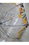 Dáždnik priesvitný mokré kvapky