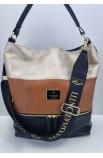 Dámska kabelka hnedo-čierna Massimo Contti