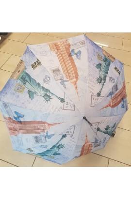 Dáždnik dámsky veľký s motívom miest