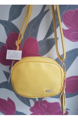 Žltá Crossbody malá kabelka Embi