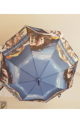 Dáždnik maľby krajinky