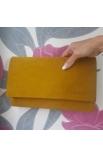 Spoločenská semišová listová kabelka