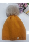 Čiapka dámska jednoduchá s kožušinou