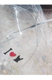 Dáždnik veľký priesvitný - mops