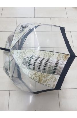 Dáždnik priesvitný šikmá veža Pise