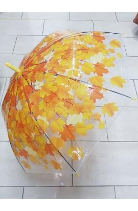 Dáždnik jesenné lístie priesvitný