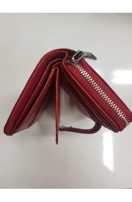 Kožená červená peňaženka