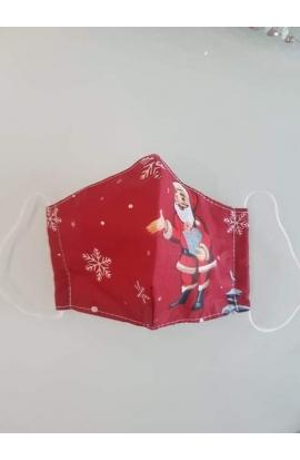 Vianočné Rúško-Maska bavlnené s gumičkou