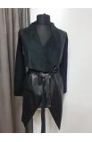 Kabát dámsky koženkový ITALY