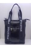 Čierna kabelka s popruhmi Prestige