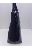 Čierna lakovaná kabelka cez plece Prestige