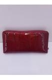 Kožená lákovaná peňaženka Loren