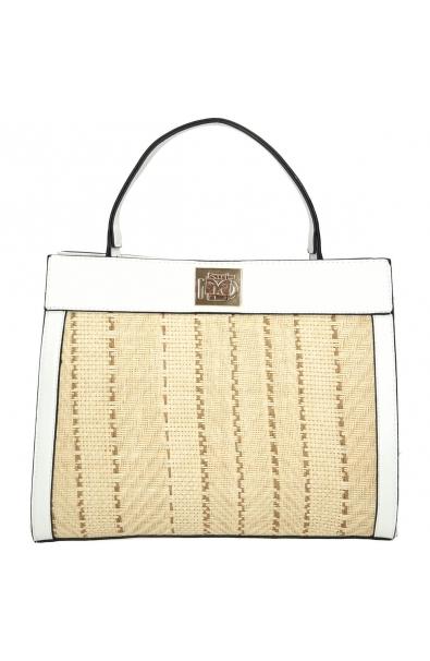 Nobo Elegantná biela kabelka do ruky