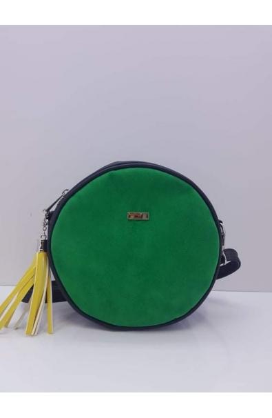 Okruhla zelená Crossbody kabelka Embi