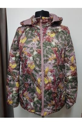 Obojstranná ružová krátka dámska bunda.