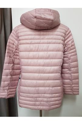 Trendy ružová krátka dámska bunda.