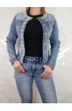 Štýlová jeansová dámska bunda Italy