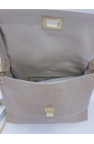 Béžová menšia kabelka s retiazkou Chiara