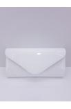 Lakovaná listová spoločenská kabelka