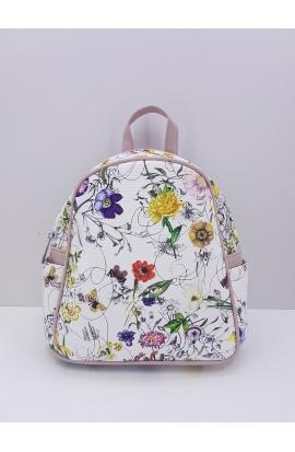 Kvietkovaný menší ruksak